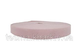 Тесьма окантовочная 18 мм 2 поперечных розовый