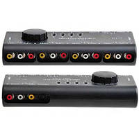 4-канальный RCA свич, селектор AV S-Video