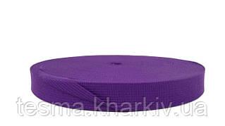 Тесьма окантовочная 18 мм 2 поперечных фиолетовый