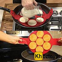 Силиконовая форма для приготовления оладий, яичницы