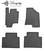 Kia Sportage III 2010- Комплект из 4-х ковриков Черный в салон. Доставка по всей Украине. Оплата при получении