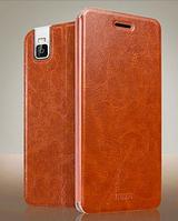 Кожаный чехол книжка MOFI для Huawei Honor 7i коричневый