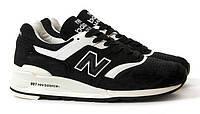 Кроссовки New Balance 997 Black White, фото 1