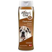 8in1 (8в1) MEDICATED SHAMPOO - шампунь лечебный для сухой, шелушащейся кожи собак,  473мл
