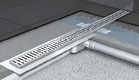 Душевой канал ACO C-line с горизонтальным фланцем 885x70x92/65