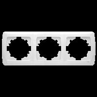 Рамка 3-местная горизонтальная белая VIKO Carmen