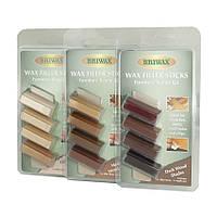 Мебельный воск набор Wax Filler Sticks Тёмный