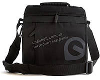Удобная наплечная мужская сумка с очень прочного материала почтальонка  art. 3003 черная