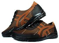 Мужские коричневые кроссовки весна-осень (СКР-5кр)