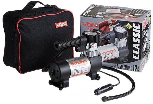 Компрессор автомобильный VOIN 400 150 psi 20 л/мин от прикуривателя
