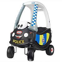 Детская машинка-каталка «Патрульная полиция» Little Tikes - США -  есть кнопка зажигания и вращающийся руль