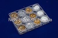 Набор для дизайна конфетти , золото и серебро.