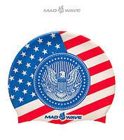 Силиконовая шапочка для плавания Mad Wave USA, фото 1