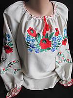 Женские вышиванки из льна.