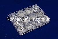 Набор микс для дизайна ногтей, серебро, фото 1