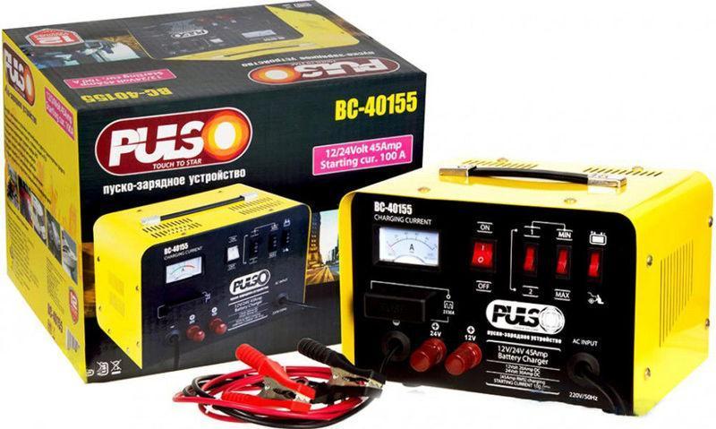 Зарядно-пусковое устройство Pulso BC-40155 12-24V/30A, зарядное устройство для аккумулятора 20-300 А*ч - Интернет-магазин «DOMMO» в Днепре