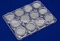 Набор дизайна для ногтей меланж, серебро