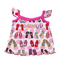 Майка-топик для девочки розовый лето арт. 11044