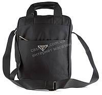 Удобная наплечная мужская сумка с очень прочного материала почтальонка  art. 8830 черная, фото 1