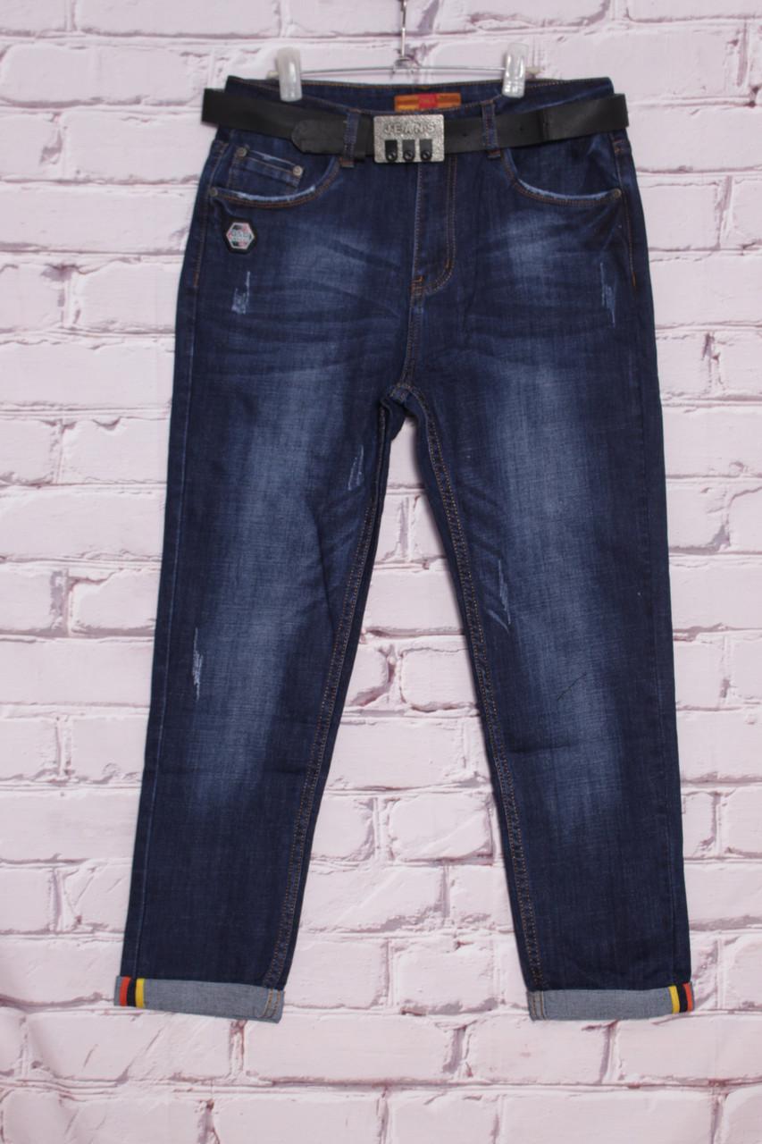 Женские джинсы бойфренд большого размера ОК(код ОК-9053-С)