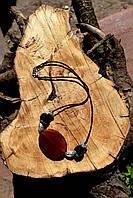 Колье с агатами и сердоликом, авторская работа, фото 1