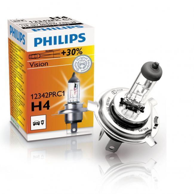 Лампочка PHILIPS  12V 60/55W +30% H4