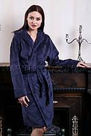 Женский махровый халат короткий MISS темно-серый (бесплатная доставка+подарок)