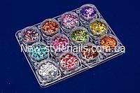 Набор для дизайна ногтей ромбики и конфети, фото 1