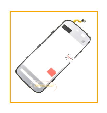 Сенсор (тачскрин) Nokia 5230 White c рамкой Original