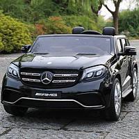 Лицензионный детский электромобиль Mercedes M 3565EBLR-2 черный с Ева колесами ***