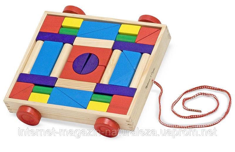 Набор деревянных блоков на тележке ТМ Melissa&Doug