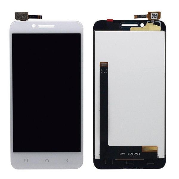 Дисплей (экран) для Lenovo A2020 с сенсором (тачскрином) белый