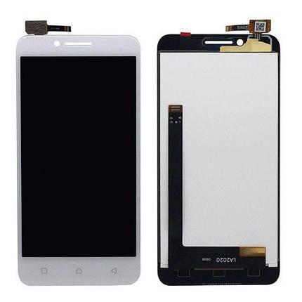 Дисплей (экран) для Lenovo A2020 с сенсором (тачскрином) белый, фото 2