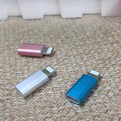 Переходник адаптер для Apple iPhone 6 6Plus 6Splus 7 7Plus 8 8+ X XR XS 11 iPad iPod с Micro USB на Lightning