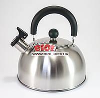 Чайник 3л из матовой нержавеющей стали со свистком Empire EM-9537
