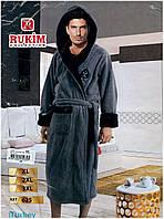 "Мужской халат ""Rukim"" ,Турция,с капюшоном"