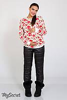 Очень теплые брюки для беременных Shia черные, фото 1