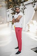 """Мужские штаны с вышивкой """"Пчела"""" в расцветках 20380"""