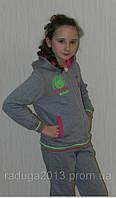 Спортивный костюм  для девочки (146,164), серый