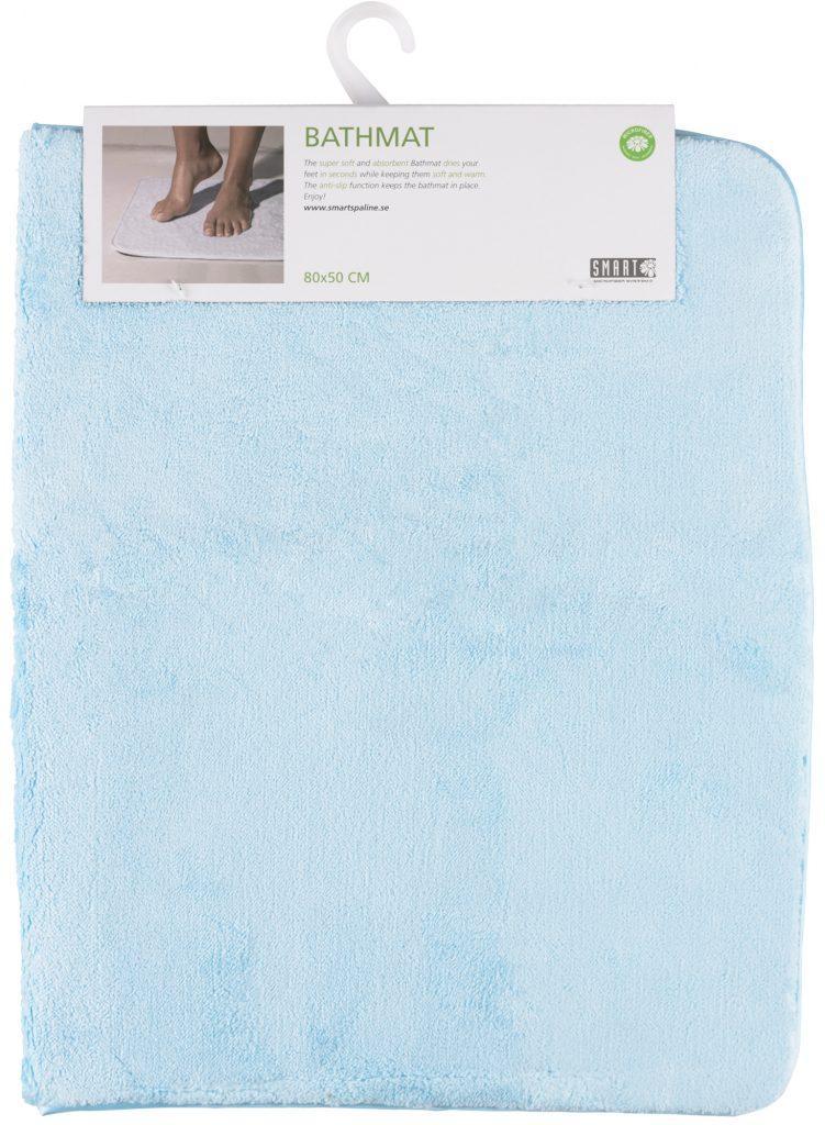 Коврик для ванной SMART Microfiber System 80*50 см, синего цвета