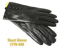 Женские черные перчатки Shust Gloves из козы LYYN-088, фото 2