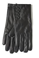 Женские черные перчатки Shust Gloves из козы Маленькие