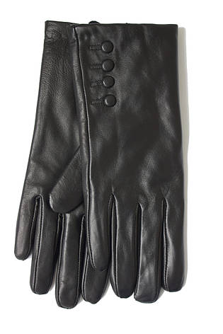 Женские черные перчатки Shust Gloves из козы Средние LYYN-088s2, фото 2