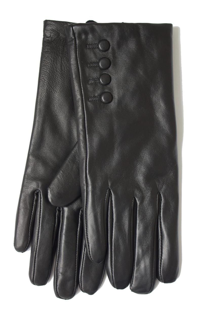 Женские черные перчатки Shust Gloves из козы Средние LYYN-088s2