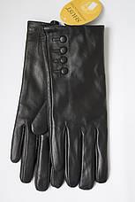 Женские черные перчатки Shust Gloves из козы LYYN-088, фото 3
