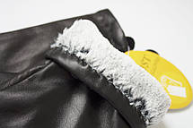 Женские черные перчатки Shust Gloves из козы Средние LYYN-088s2, фото 3
