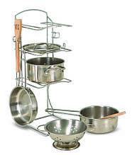 Игровой набор посуды из нержавеющей стали Melissa&Doug