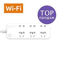 Удлинитель Xiaomi Smart Power Strip 6 розеток, Wi-Fi, белый, Wi Fi сетевой фильтр