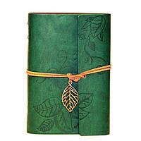 Ежедневник NATURE Зеленый, Эко-кожа под замш, orignal Aventura, фото 1