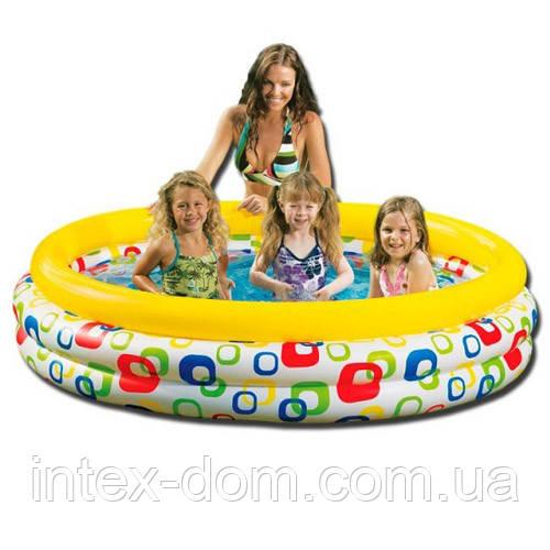 Детский надувной бассейн Color Wave Pool (58449)168 х 41 см